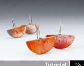 "Polymer Clay PDF Tutorial ""Earrings with Silver Leafing"""