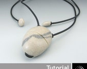 "Polymer Clay PDF Tutorial ""Pebble Amulet/Inro"""