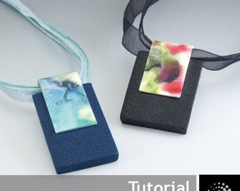 "Polymer Clay PDF Tutorial ""Night Garden Pendant"""