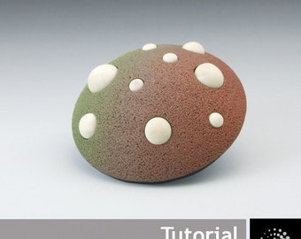 "Polymer Clay PDF Tutorial ""Futuristic Brooch"" plus a free Polymer Clay Basics PDF"