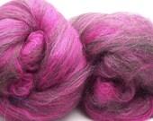 Raspberry Truffle--Superwash Merino and Wool Hand-Carded Batts, 3.0oz
