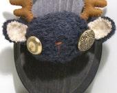 Black Bearalope Fluffidermy