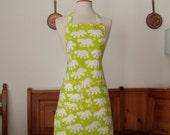 RESERVED FOR BABSINA - SALE SALE - Apron white and green - SALE SALE
