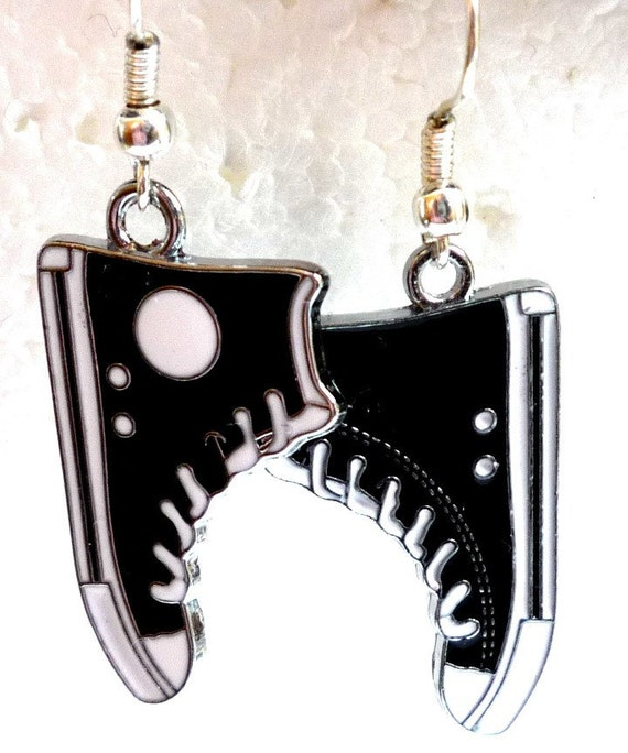 Earrings Converse All Stars  Black and White