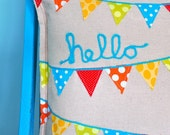 hello-cushion cover