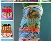 SPRING is coming---happy scrappy skirt-pdf-pattern