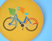 bike ride-- 8in hoop-customizable colors