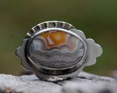 Dawn Light - Crazy Lace Agate Ring