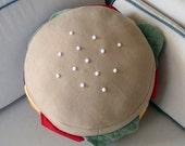 The Cheeseburger Pillow
