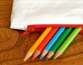 Reserved for Megan - Pencil case - Zippered pouch - Lined Paper Design
