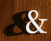 Ampersand Brooch - White