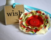 Ruby Red Fabric Brooch no. 42
