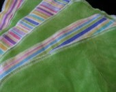 Little Liners 6 cloth diaper liners - lime stripes NB-S-M