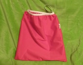 12x12 PUL Wetbag for Cloth Diapers or Pads--red