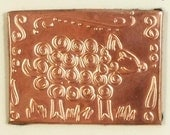 Brooch, Pin, Copper Tooled Sheep