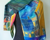 Silk Painted Scarf Original Design