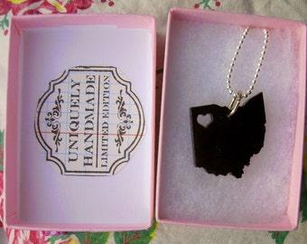 NorthWest Ohio Acrylic black necklace