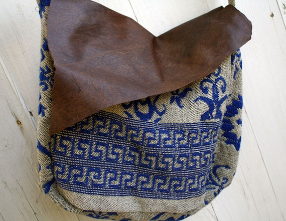 Blue & Gray Antique Woven Bag