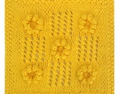 PDF August's Summer Sunflowers Cloth Pattern, from our Seasonal Dishcloth Series - SUMMER Dishcloths