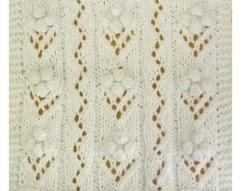 PDF June's Bridal Bouquet Cloth Pattern, from our Seasonal Dishcloth Series - SUMMER Dishcloths