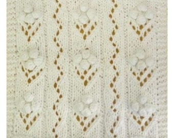 PDF June's Bridal Bouquet Cloth Pattern, from our Seasonal Dishcloth Series - SUMMER Dishcloths