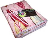 Pink Surfboard and Minky Baby Blankie by Mod Baby