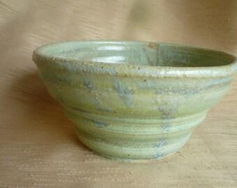 ceramic bowl light green blue