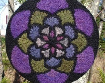 Stained Glass Window Hat/Art - knit