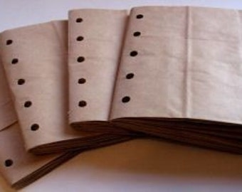6X6 SEWN  paper bag scrapbook albums\/piecing- 4 BROWN books