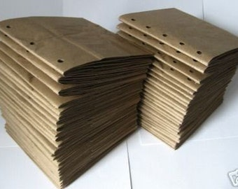 6x6 SEWN  paper bag scrapbook albums - 50 BROWN books
