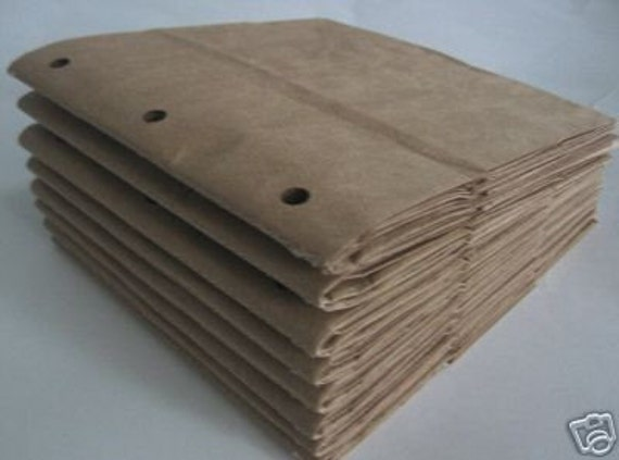 Book Cover Instructions Paper Bag : Items similar to sewn paper bag scrapbook albums