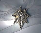 Snowflake Leaf Necklace