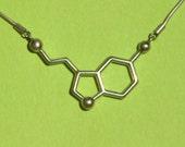 serotonin molecule necklace - for happiness