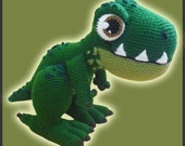 Amigurumi Pattern Crochet T-REX Dinosaur DIY Instant Digital Download PDF