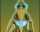 Amigurumi Pattern Crochet Baby Pterosaur Dinosaur DIY Digital Download