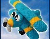 Amigurumi Pattern Crochet Ace Airplane DIY Digital Download