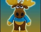 Amigurumi Pattern Crochet Nelson Moose DIY Instant Digital Download PDF