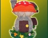 Amigurumi Pattern Crochet Mushroom House DIY Instant Digital Download PDF