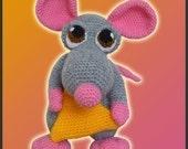Amigurumi Pattern Crochet Donnie Mouse Doll DIY Digital Download