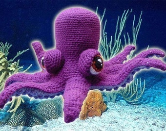 Amigurumi Pattern Crochet Otto Octopus DIY Instant Digital Download PDF