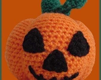 Amigurumi Pattern Crochet Halloween Pumpkin DIY Instant Digital Download PDF