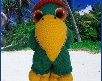 Amigurumi Pattern Crochet Paquito Parrot Doll DIY Digital Download