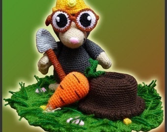 Amigurumi Pattern Crochet Eugene Mole DIY Digital Download