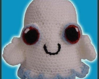 Amigurumi Pattern Crochet Friendly Ghost DIY Instant Digital Download PDF