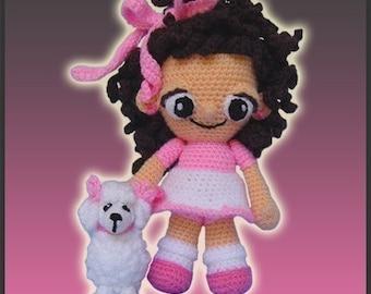 Amigurumi Pattern Crochet Annie and Bianca Poodle Doll DIY Instant Digital Download PDF