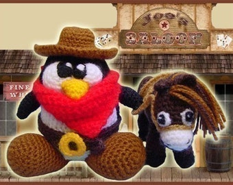 Amigurumi Pattern Crochet The Good The Bad and The Tux Penguin Doll DIY Digital Download