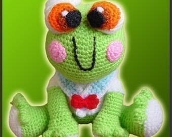 Amigurumi Pattern Crochet Froggy Fred Frog DIY Digital Download