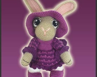 Amigurumi Pattern Crochet Rosie Rabbit Bunny DIY Digital Download