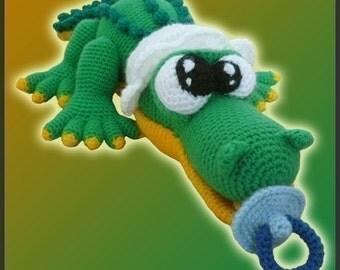 Amigurumi Pattern Crochet Baby Croco Crocodile DIY Digital Download