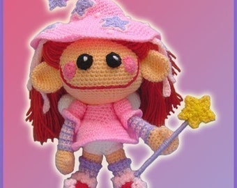 Amigurumi Pattern Crochet Little Fairy Doll DIY Instant Digital Download PDF